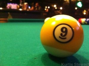 9 ball at the Blarney Stone Vancouver